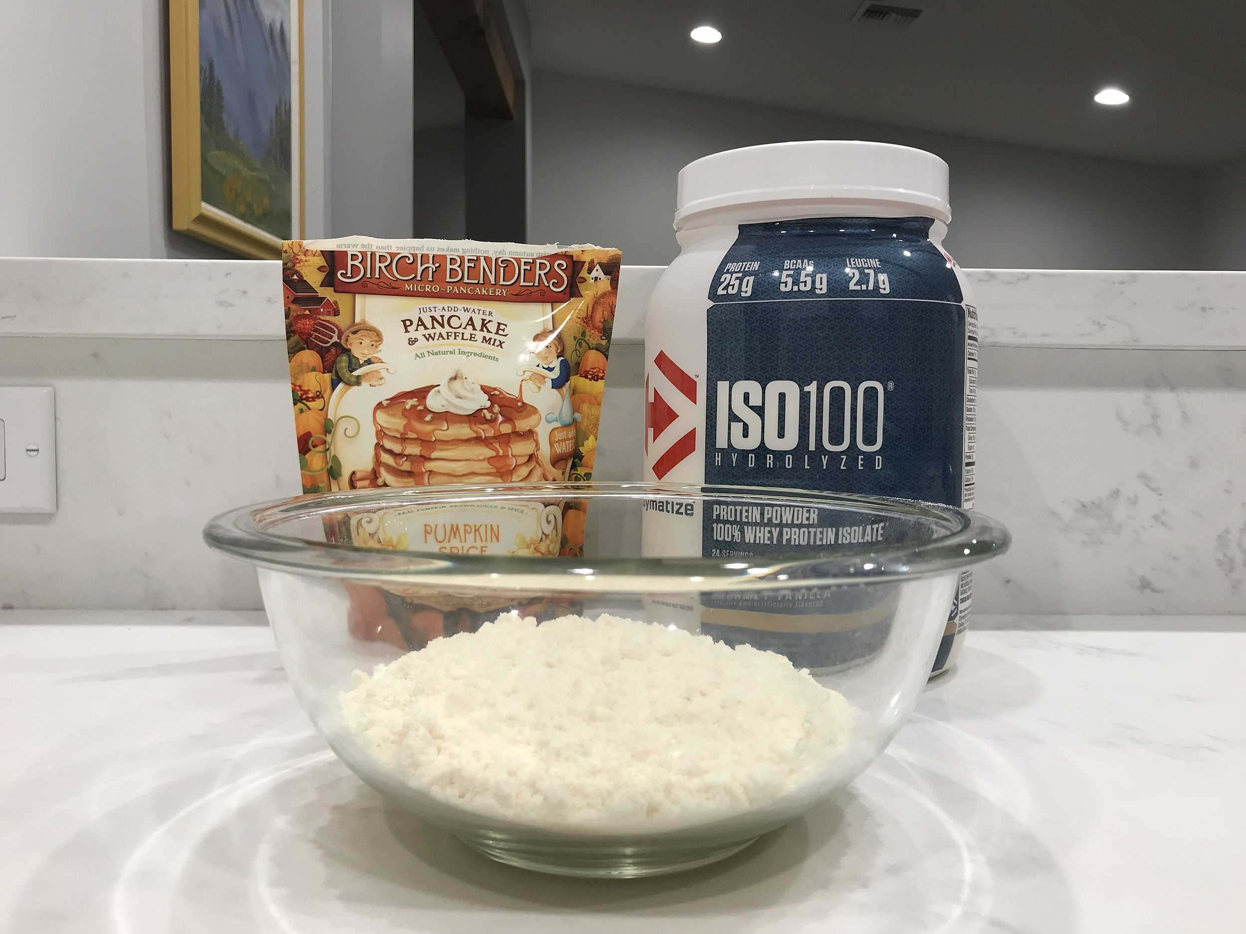 All you need to make yourself some home cooked pancakes in minutes!