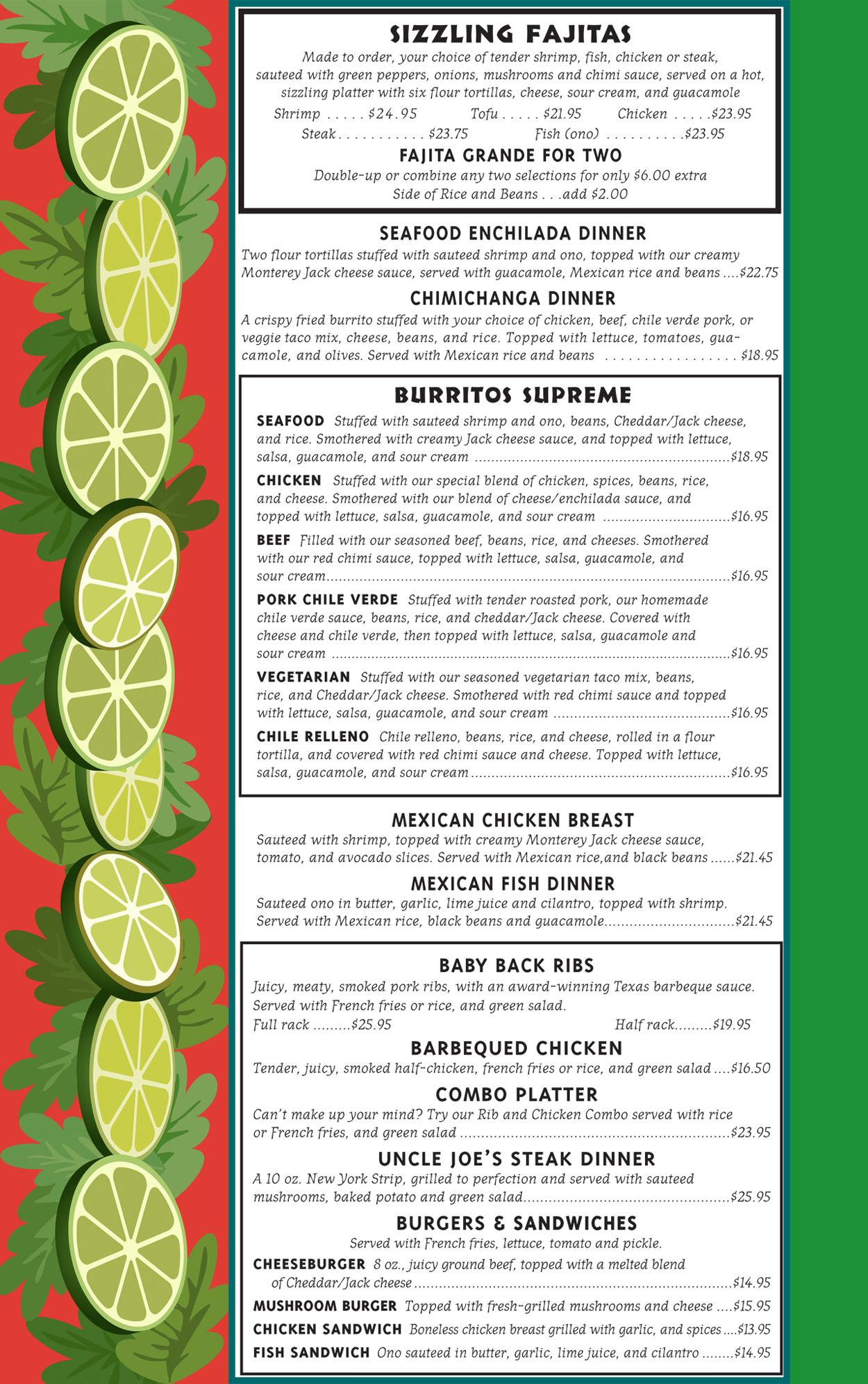 Pollis Mexican Restaurant Dinner Menu Page 2.jpg