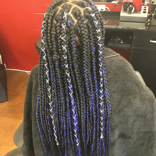 It's a wrap. Wrap your braids in the color of your choice!