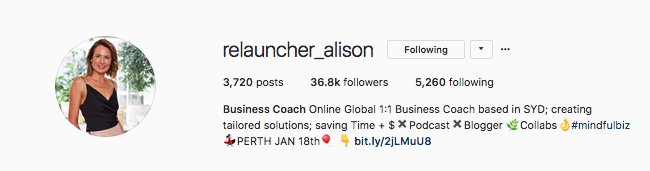 There's no confusion about what  @Relauncher_Alison  does, she's a business coach.