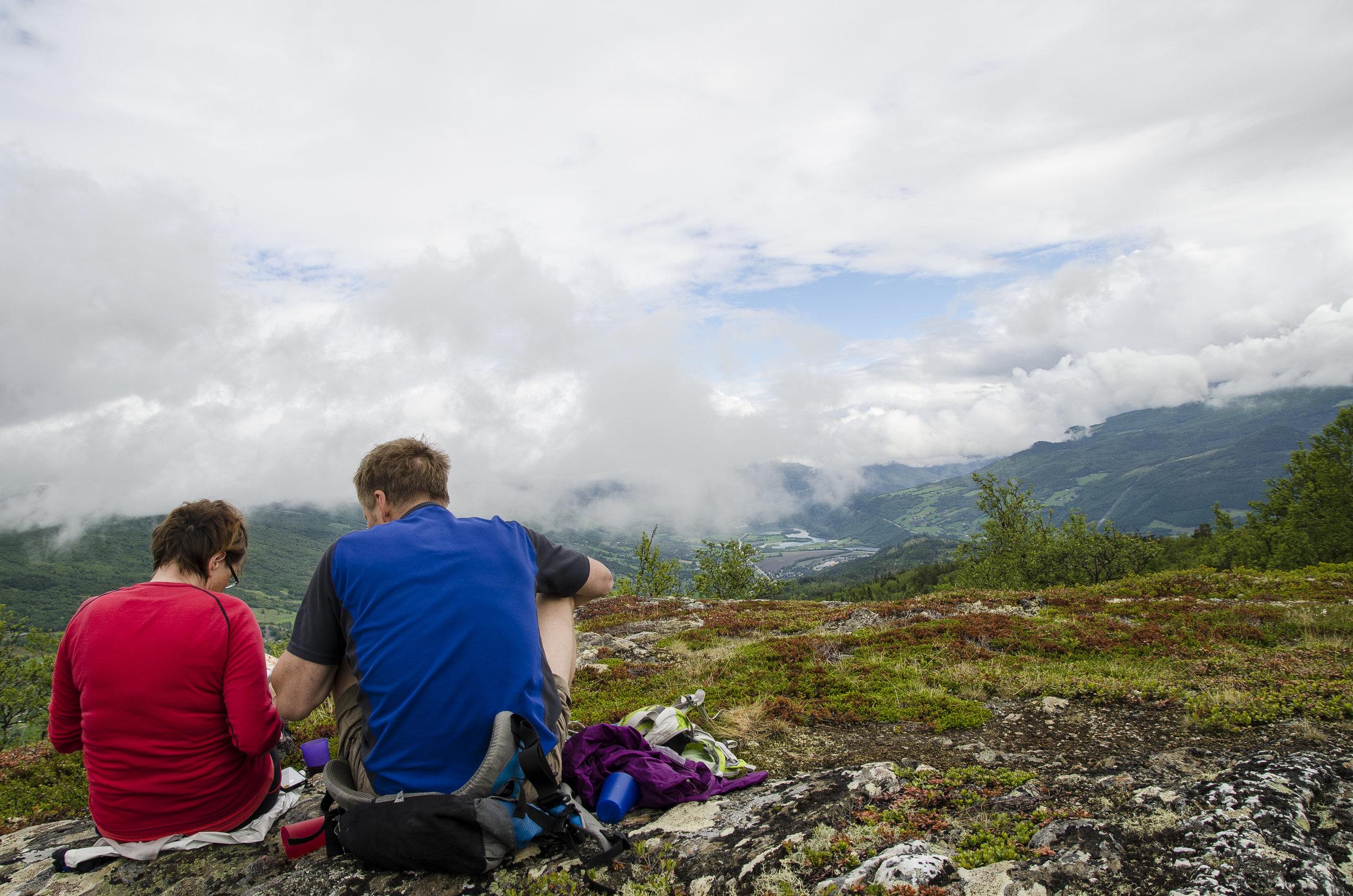 Utsikt fra Nordherad mot Vågåmo.