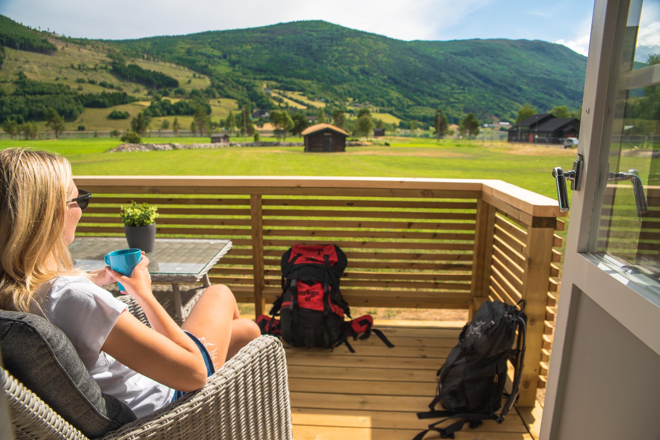 Utsikt fra hyttene