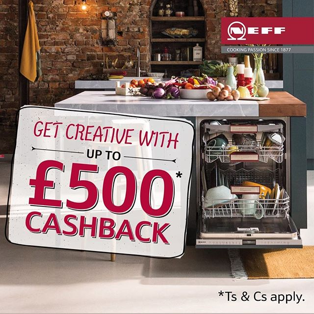 Let's Celebrate! 🎉 Purchase a selected Neff Dishwasher & 4 other Neff Appliances and Receive up to £500 Cashback! - - - - - #neffpassion #neff #neffappliances #cooking #offer #kitchens #kitchendesign #sale #savings #appliances #getcooking