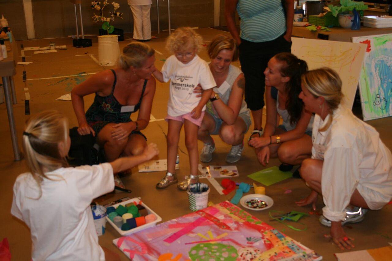 Malerværkstedet som hvert år er et hit for hele familien.