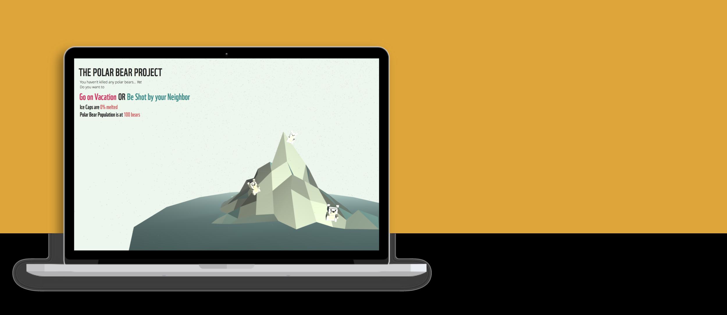 The Polar Bear Project - Web Development, 3D Model, Social Change