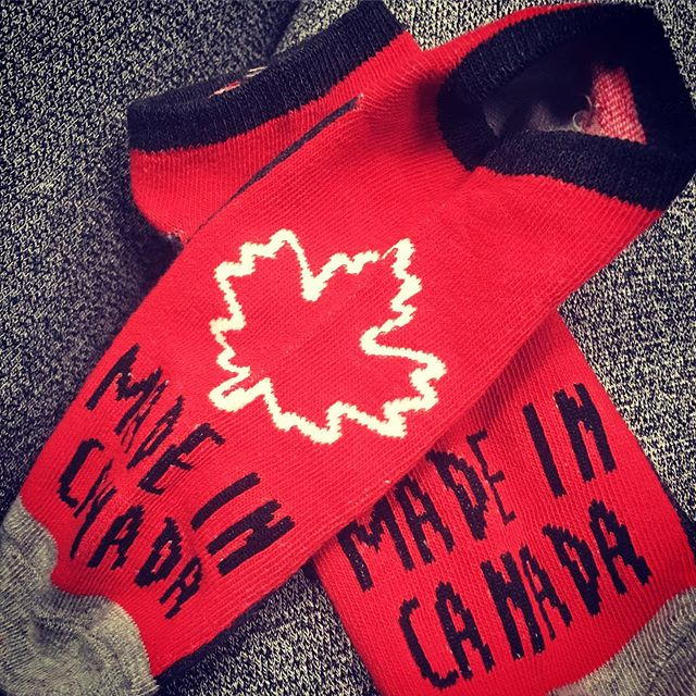 ❤️#canadapride #canadian #socks #anklesocks #canada