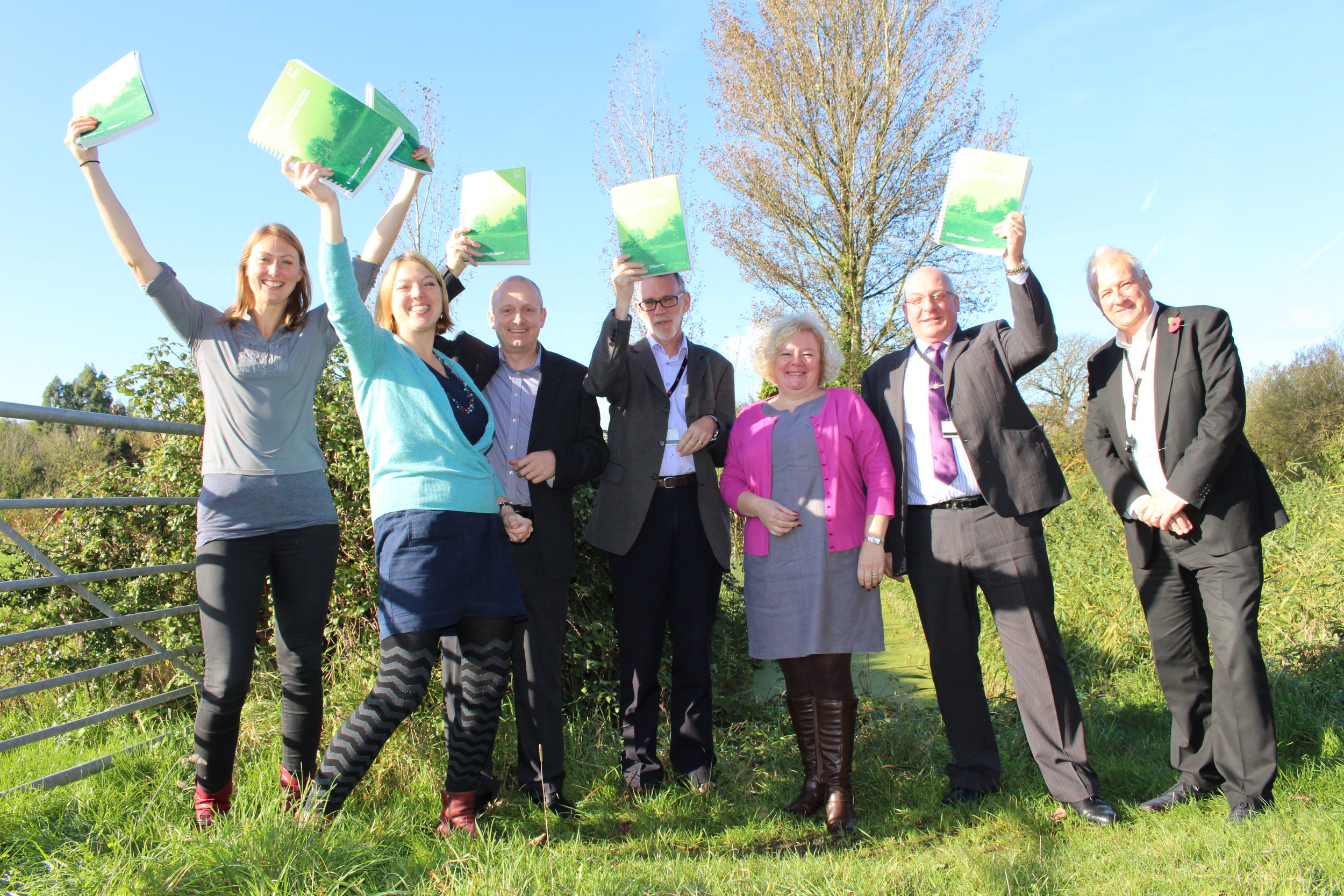 Living Levels Board Members celebrating the successful submission of the application to Heritage Lottery