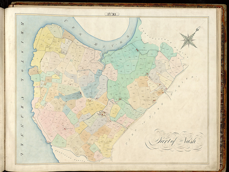 Commissioner of Sewers map for Nash (1830)