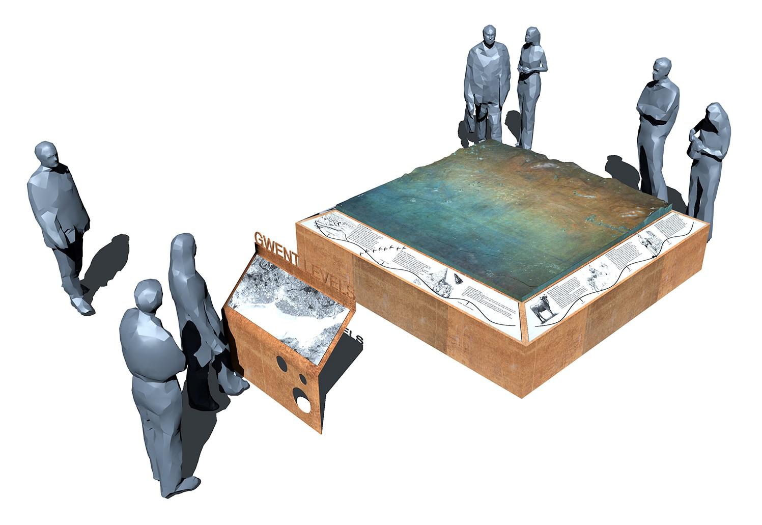 Bronze model, lectern and timeline v1 17.09.18.jpg