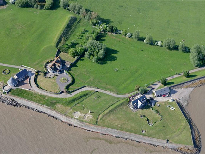 Aerial photograph of Goldcliff (©RCAHMW, T. Driver, 2010)