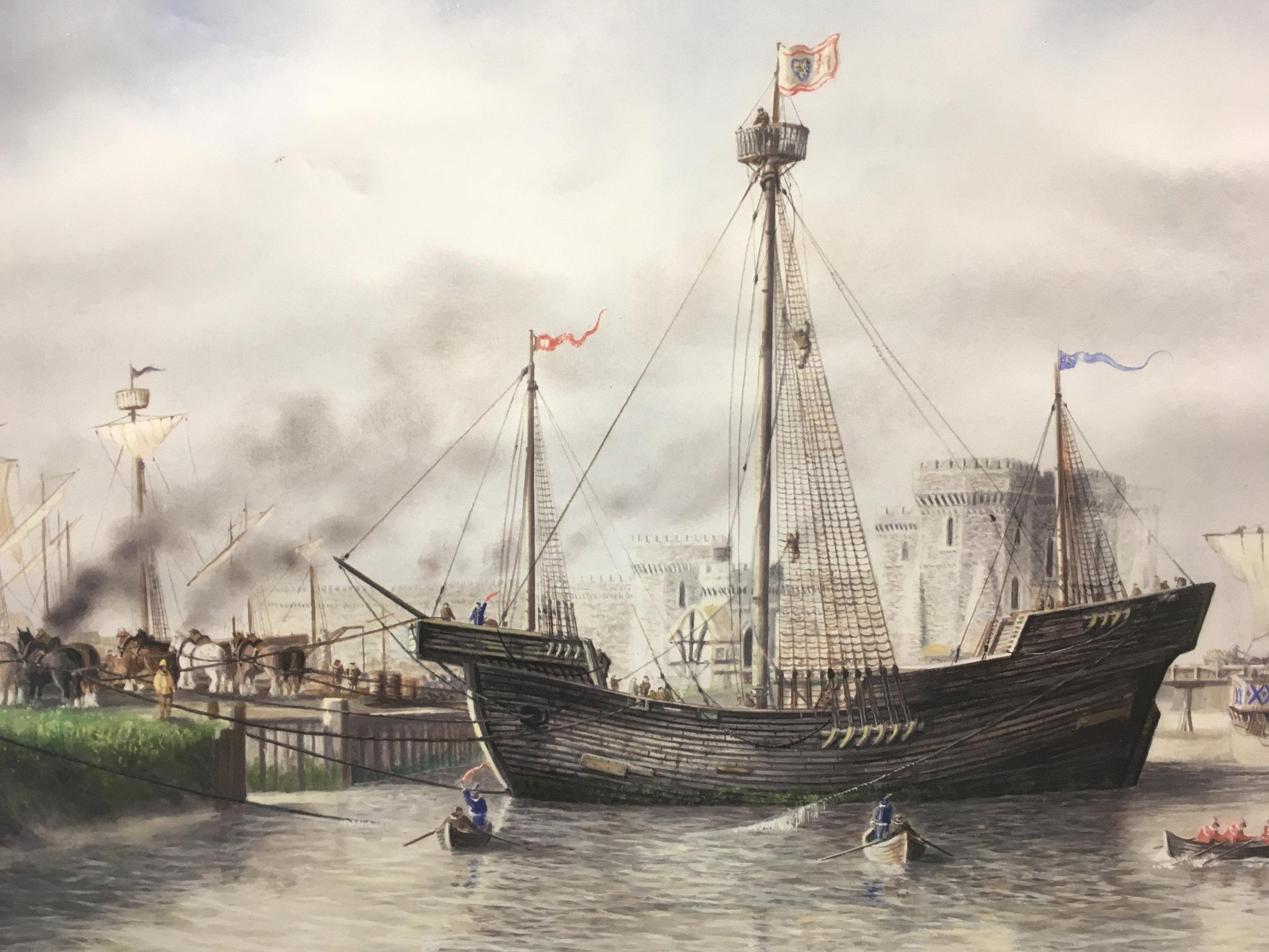 Artists reconstruction of the Newport Ship (David Jordan/Newport Museum & Art Gallery)