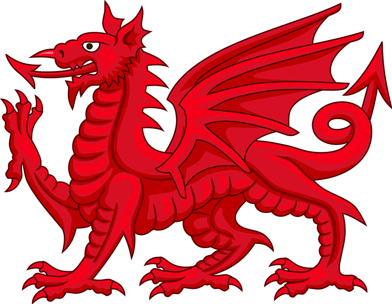 The Welsh Dragon is thought to be derived from Cadwaladr's battle standard.