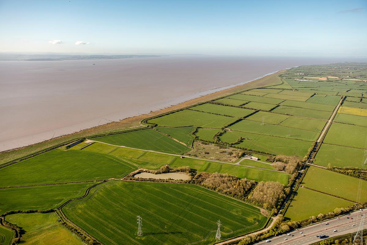 Looking west across Caldicot Moor