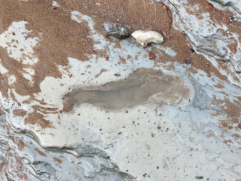 Human footprint, circa 5500BCE