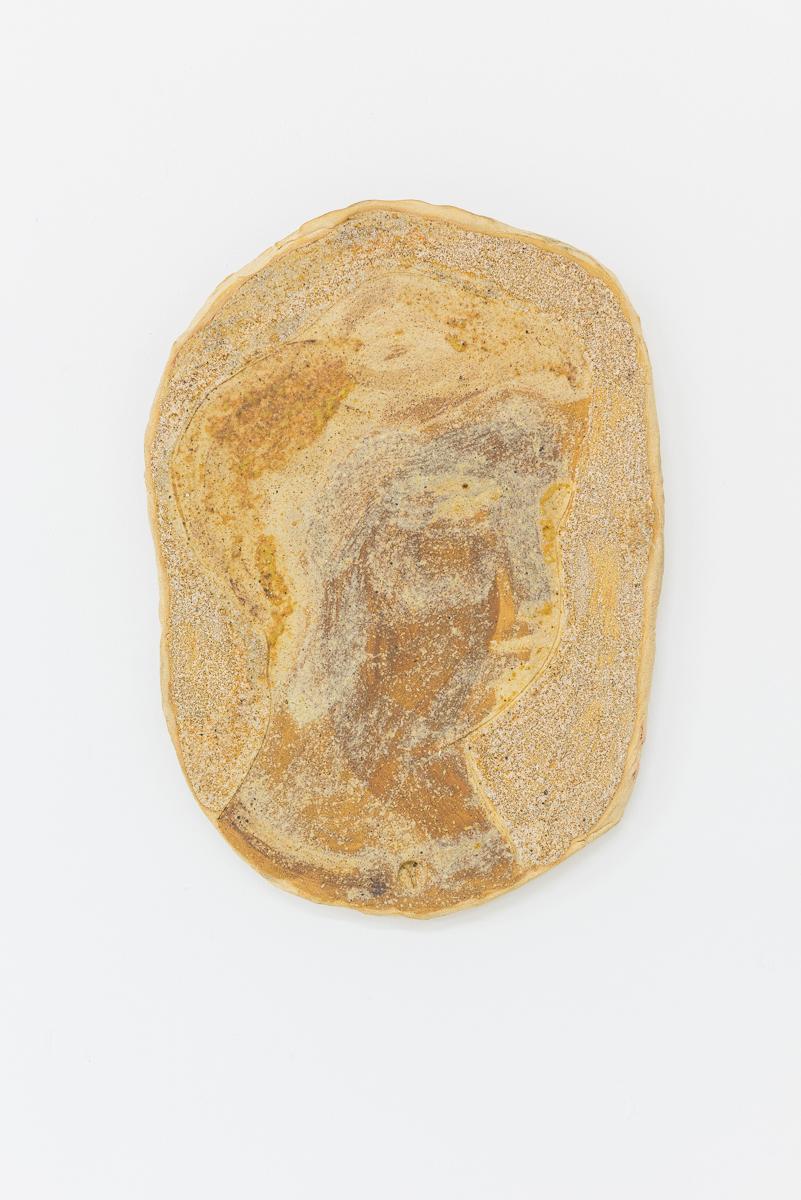 Yelena Popova, Faces, wood ash glaze on stonewear, 2017. Photo: Damian Griffiths.