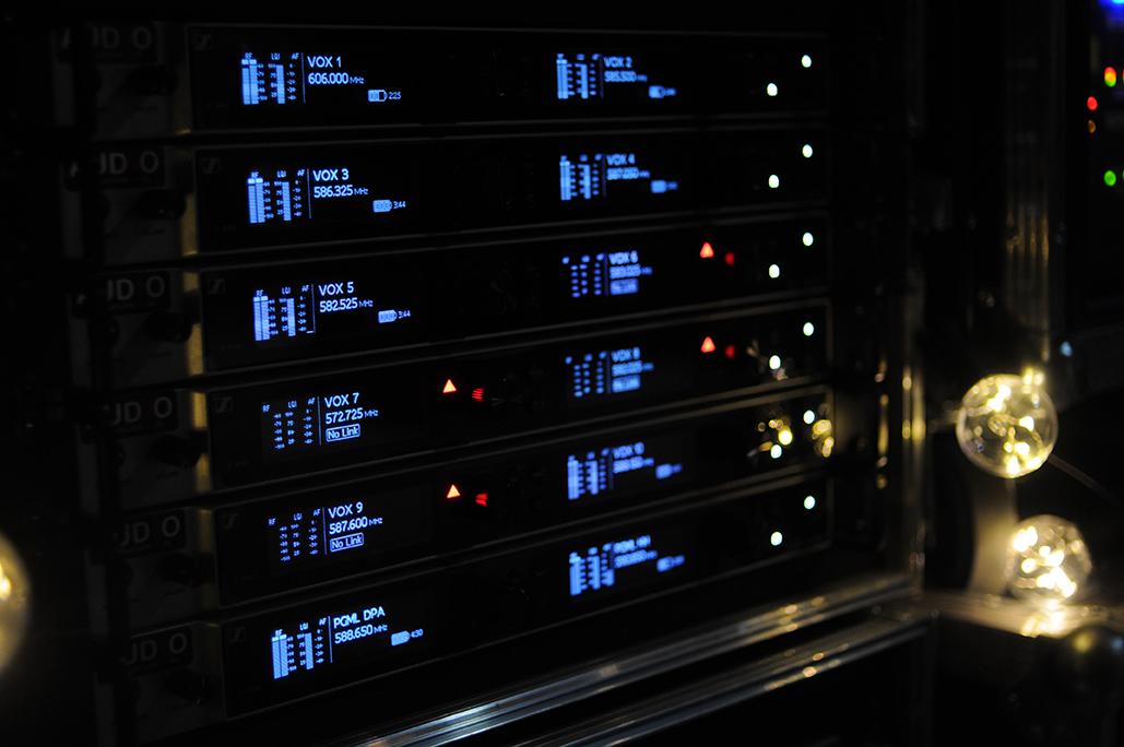 Sennheisers Digital 6000 mottakerer.