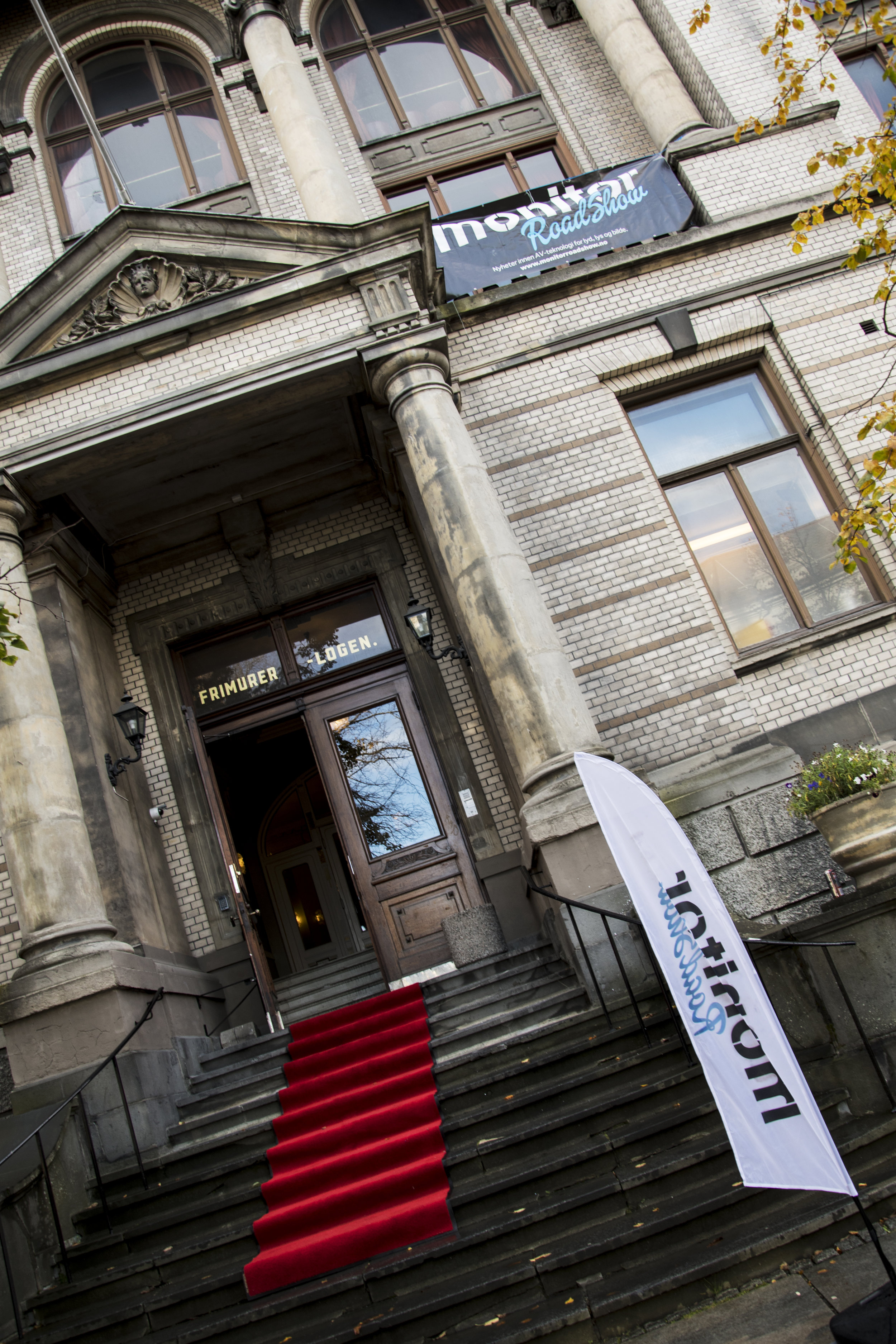 I Trondheim så ruller vi ut den røde løperen på logen midt i byen