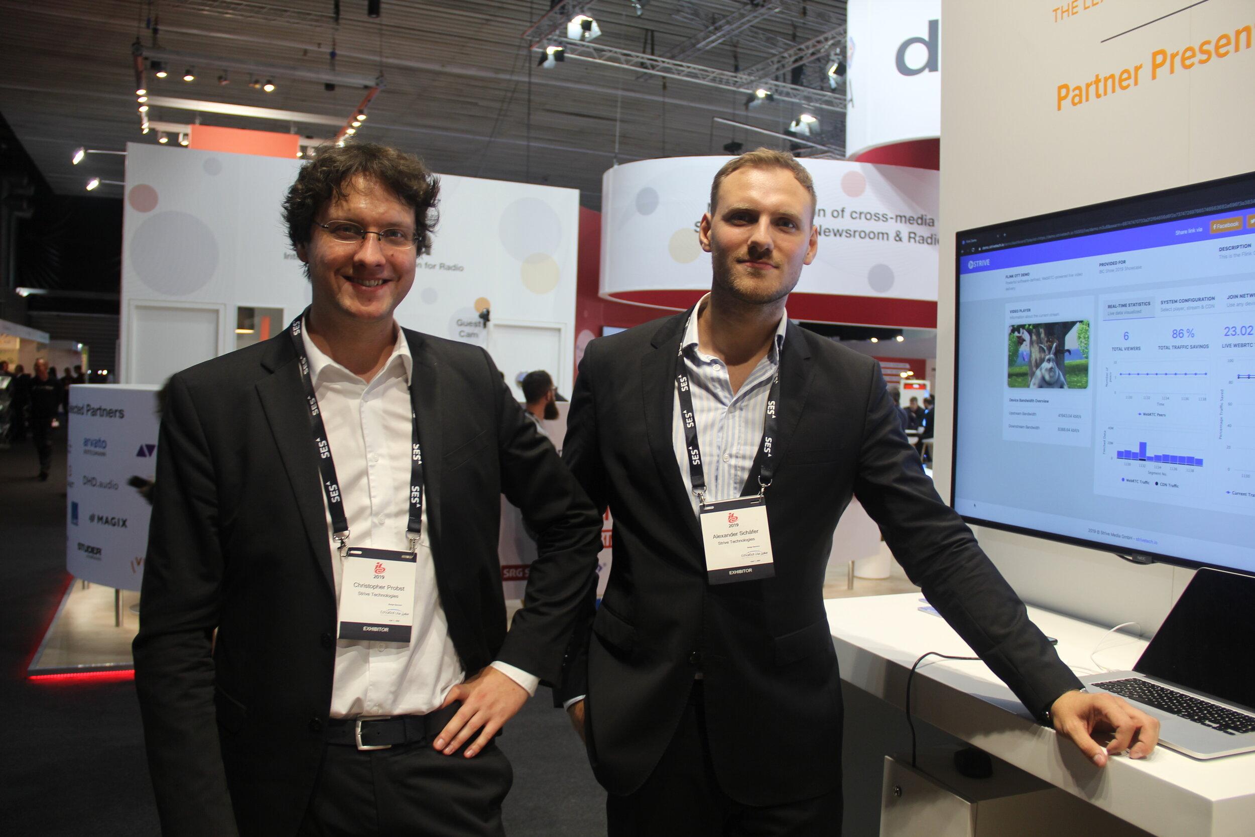 Christoper Probst og Alexander Schäfer fra Strive Technolgies har inngått et samarbeid med Qvest Media.
