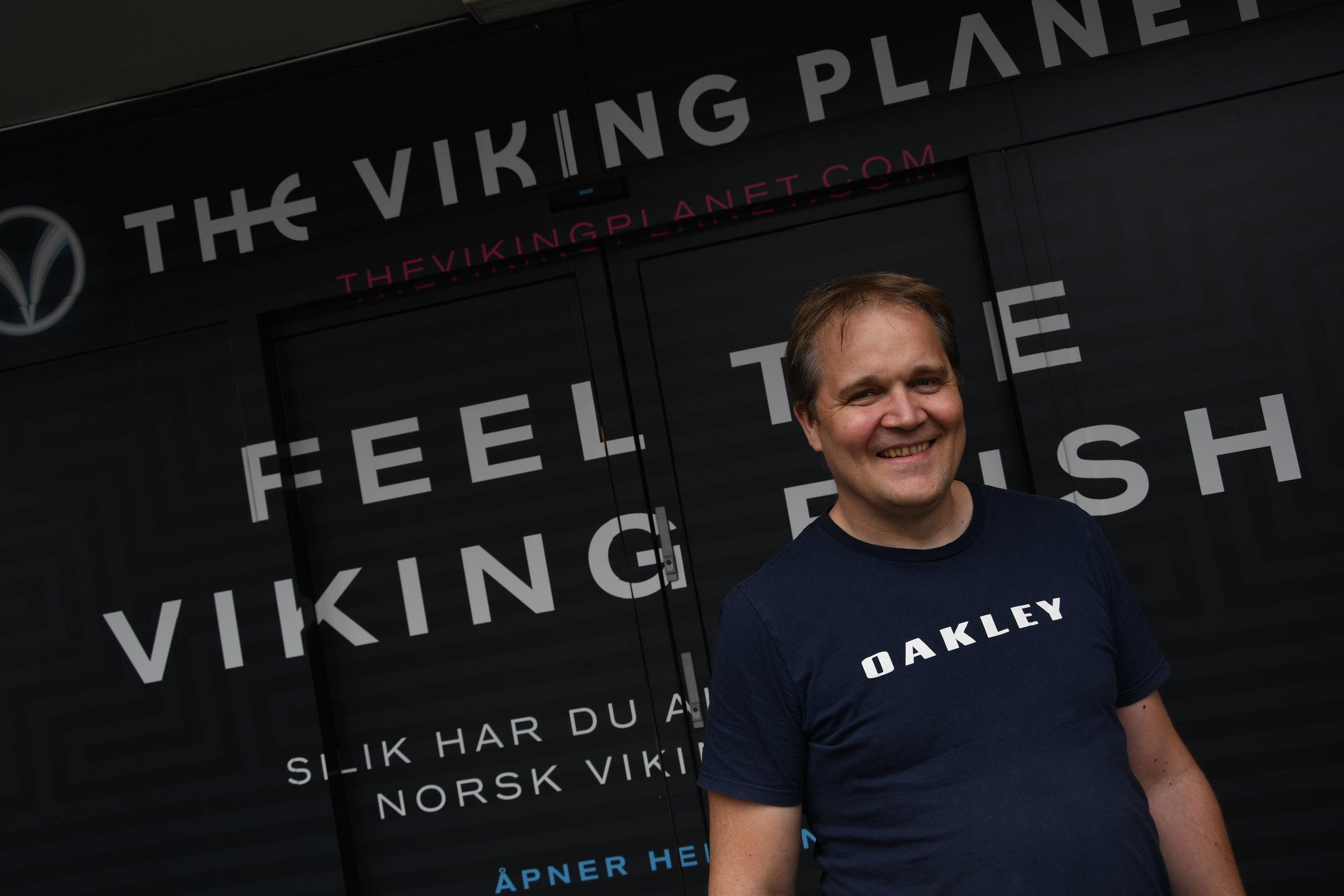 Eirik Jahre i Audioteknikk var tidlig inne i arbeidet med The Viking Planet.