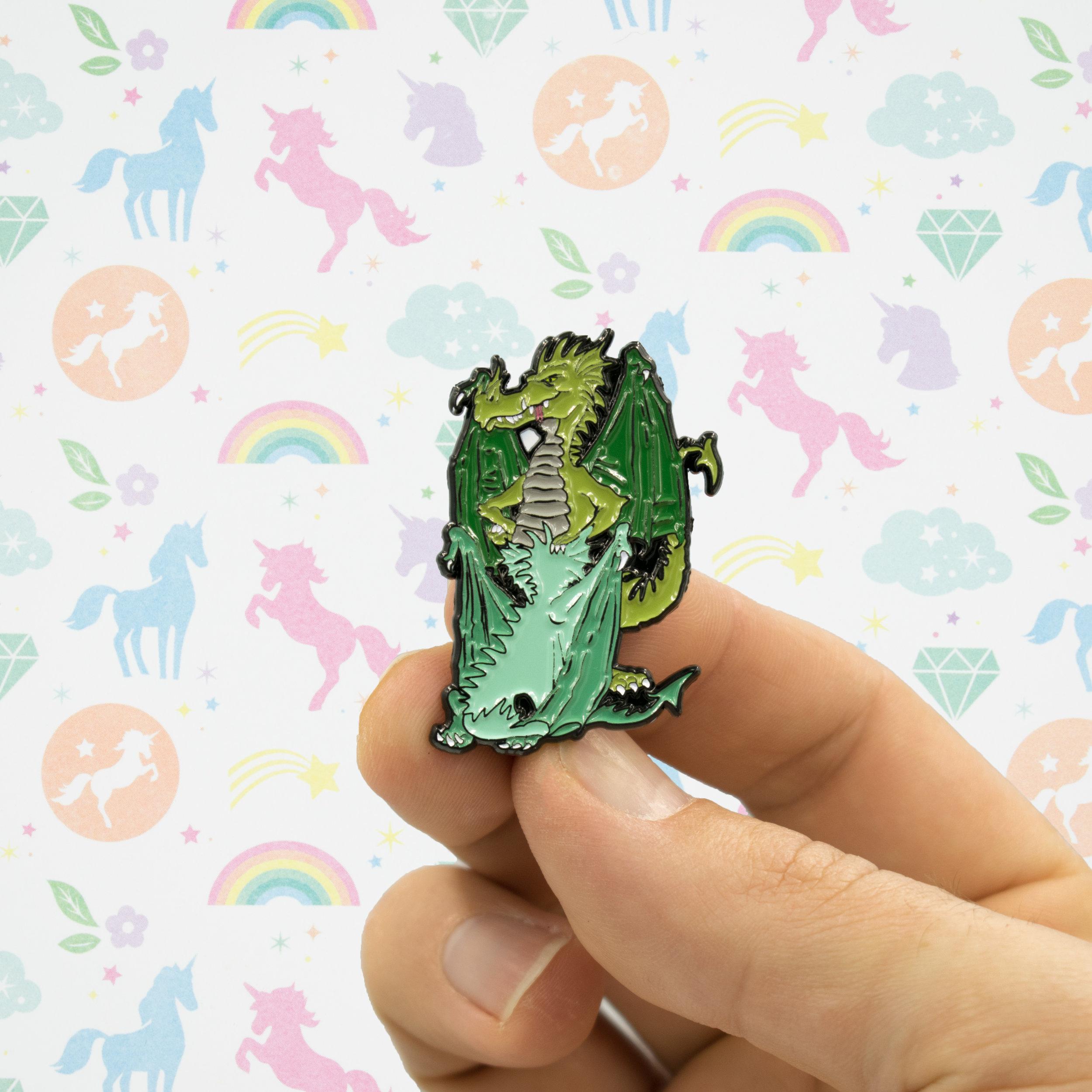 dragon sex blowjob enamel lapel pin