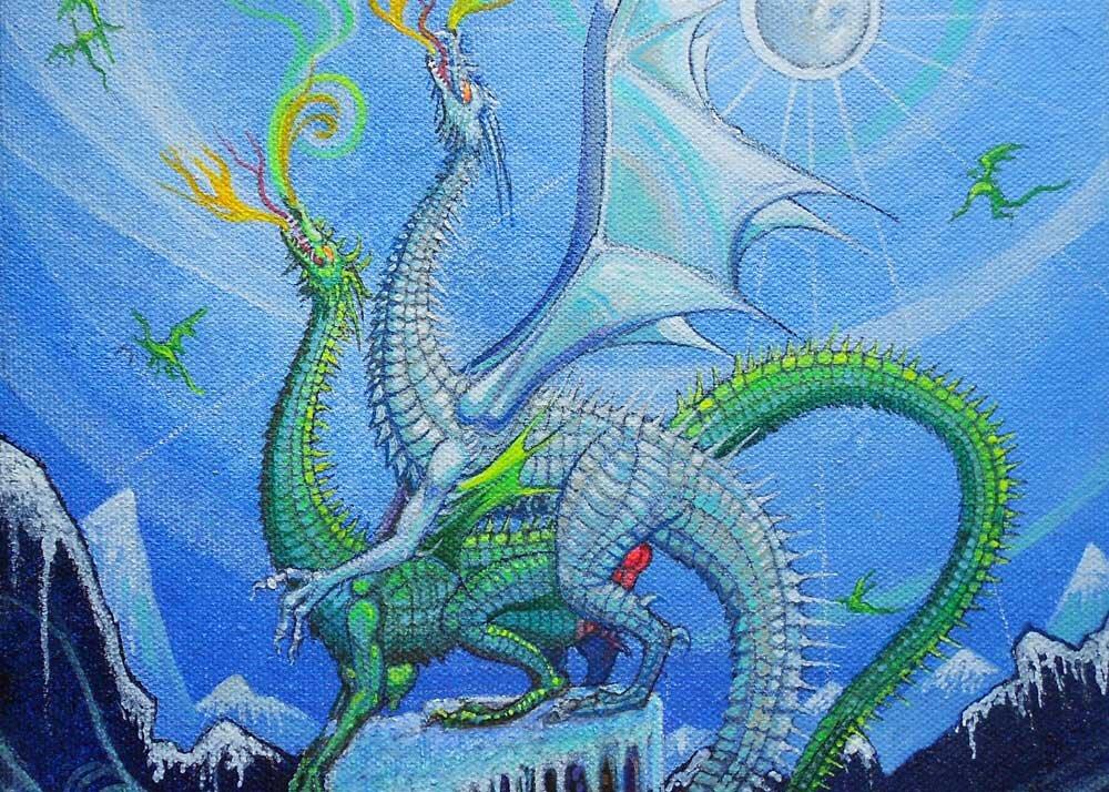 """""""Snow Dragons,"""" as seen in the 2015 Dragon Sex Calendar"""