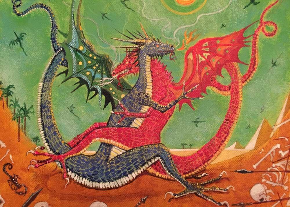 """Mirage Mating,"" as seen in the 2015 Dragon Sex Calendar"