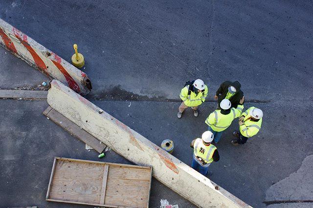 Construction Workers. . . . . #construction workers #nyc #noicemag #somewheremagazine #fotoguerilla #milleniumimages #colour #composition #humanity_shots