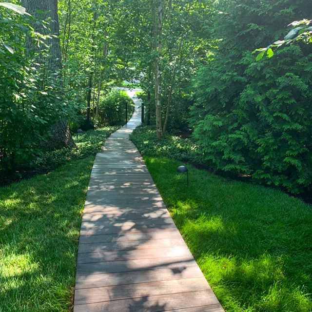 #Green as far as the eye can see, the sounds of your foot steps against the wood! #landscapemaintenance #lawnmaintenance #teles #mvi #marthasvineyard #chilmark #edgartown #vineyardhaven #oakbluffs