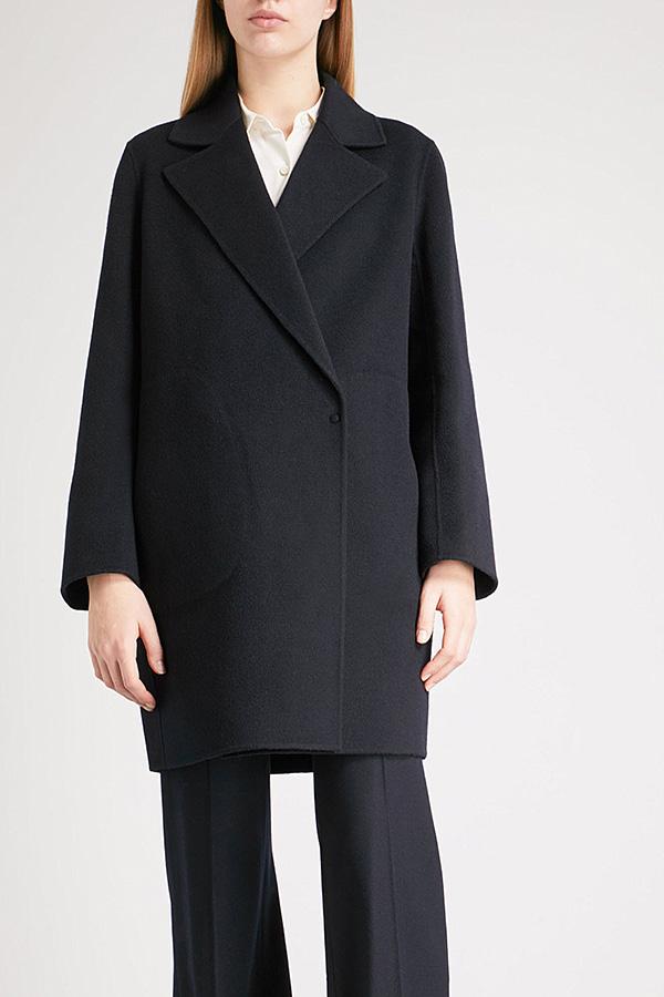 Theory Wool Double-face Coat, Navy, €815