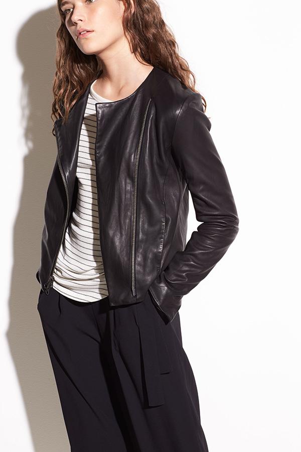 Vince Crossed Front, Washed Leather, Black Jacket, €1195.