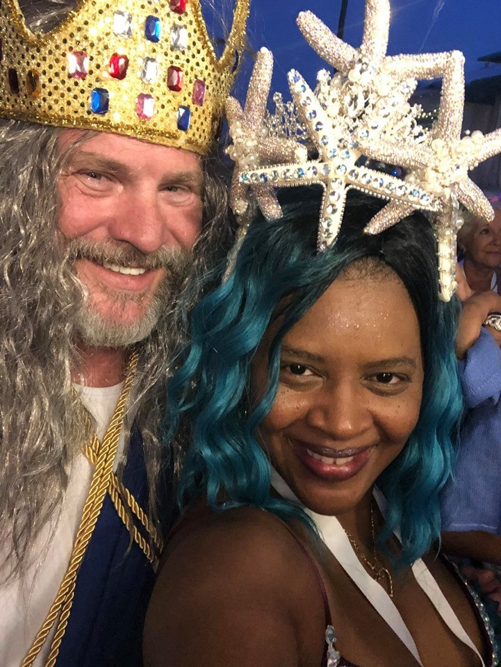 King Chase Hurst & Tangela Torres in costume