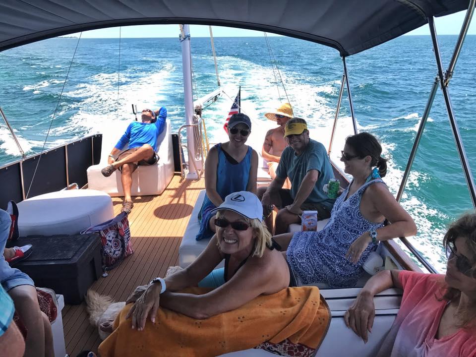 members on boat