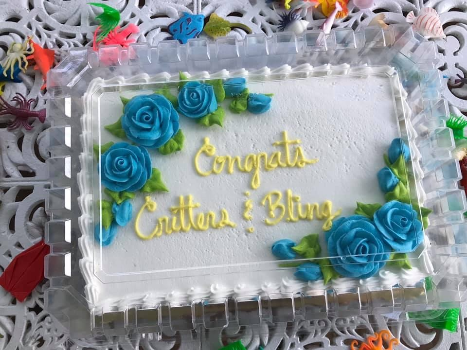 Congrats critters & bling cake