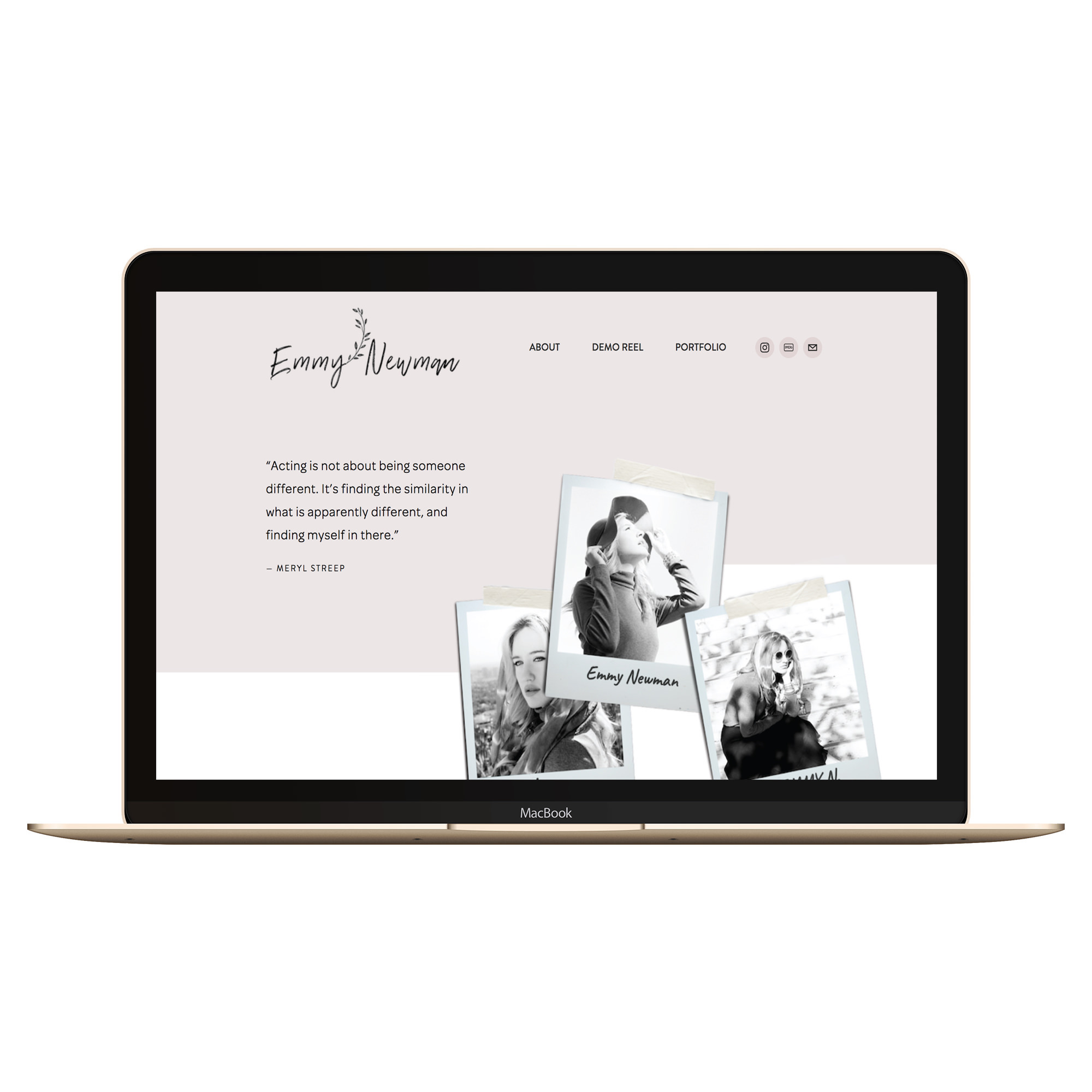 Copy of Copy of squarespace website on macbook