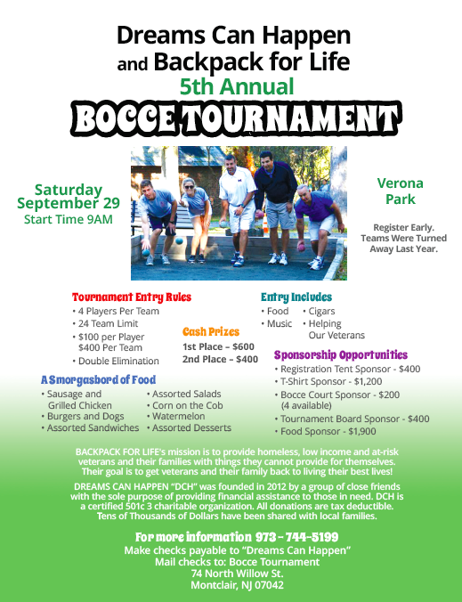 Backpacks For Life Bocce