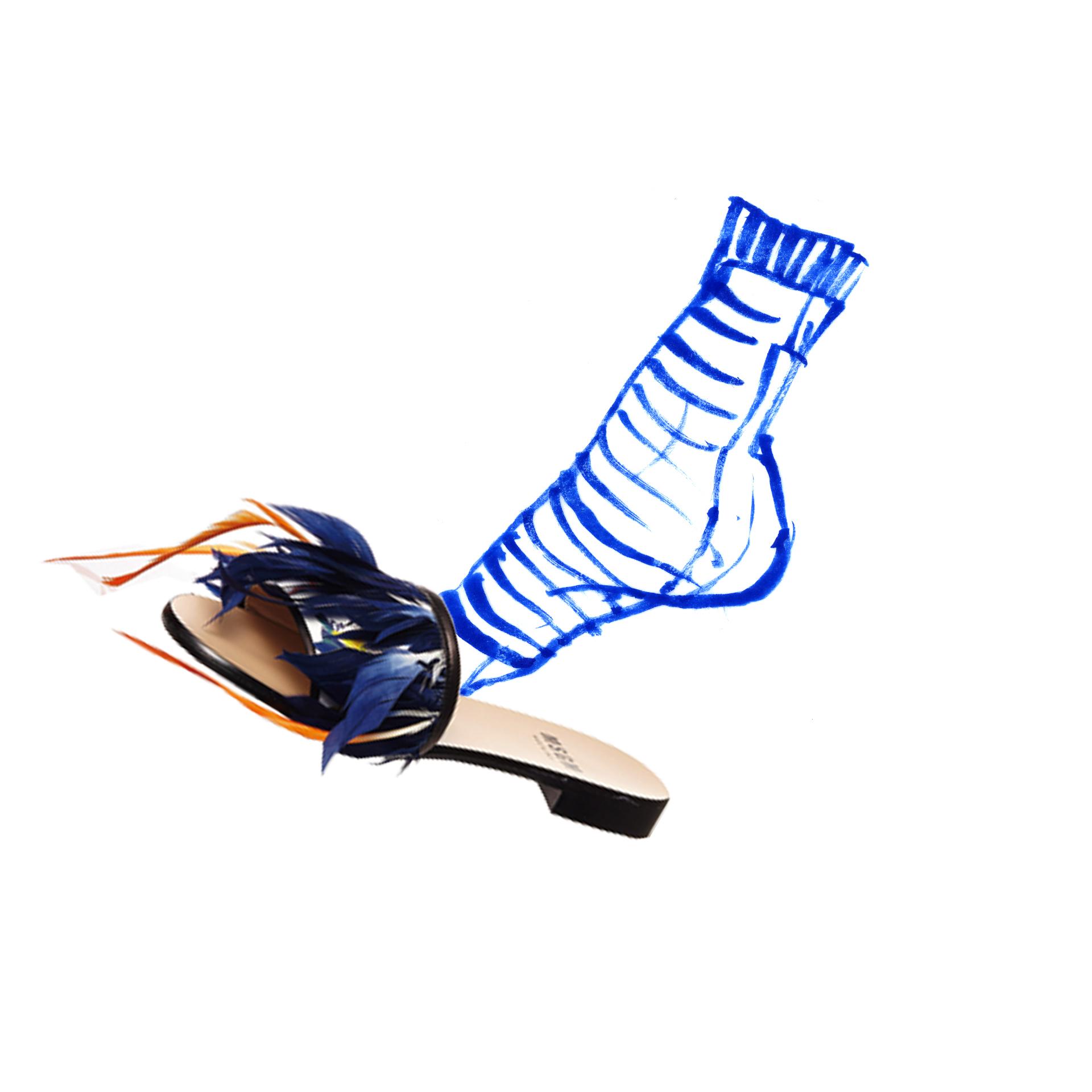 MSGM shoe editorial for L'officiel Japan