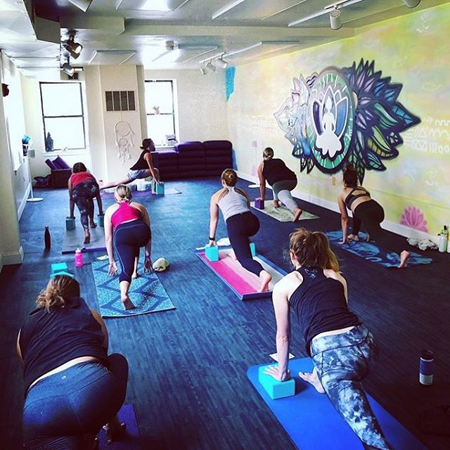 What better way to celebrate the full moon than to teach my first yoga class in a new studio and city!?! Thanks so much for joining me tonight! 🌕🙏🧘♀️#fullmoon #philly #yoga