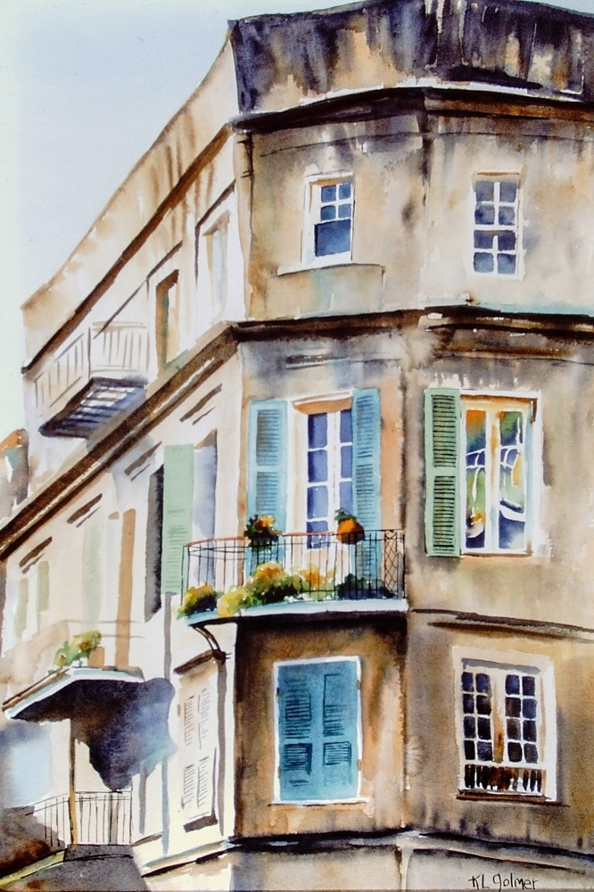 """Windows  Framed watercolor 27 x 20"""", $800  Prints available"""