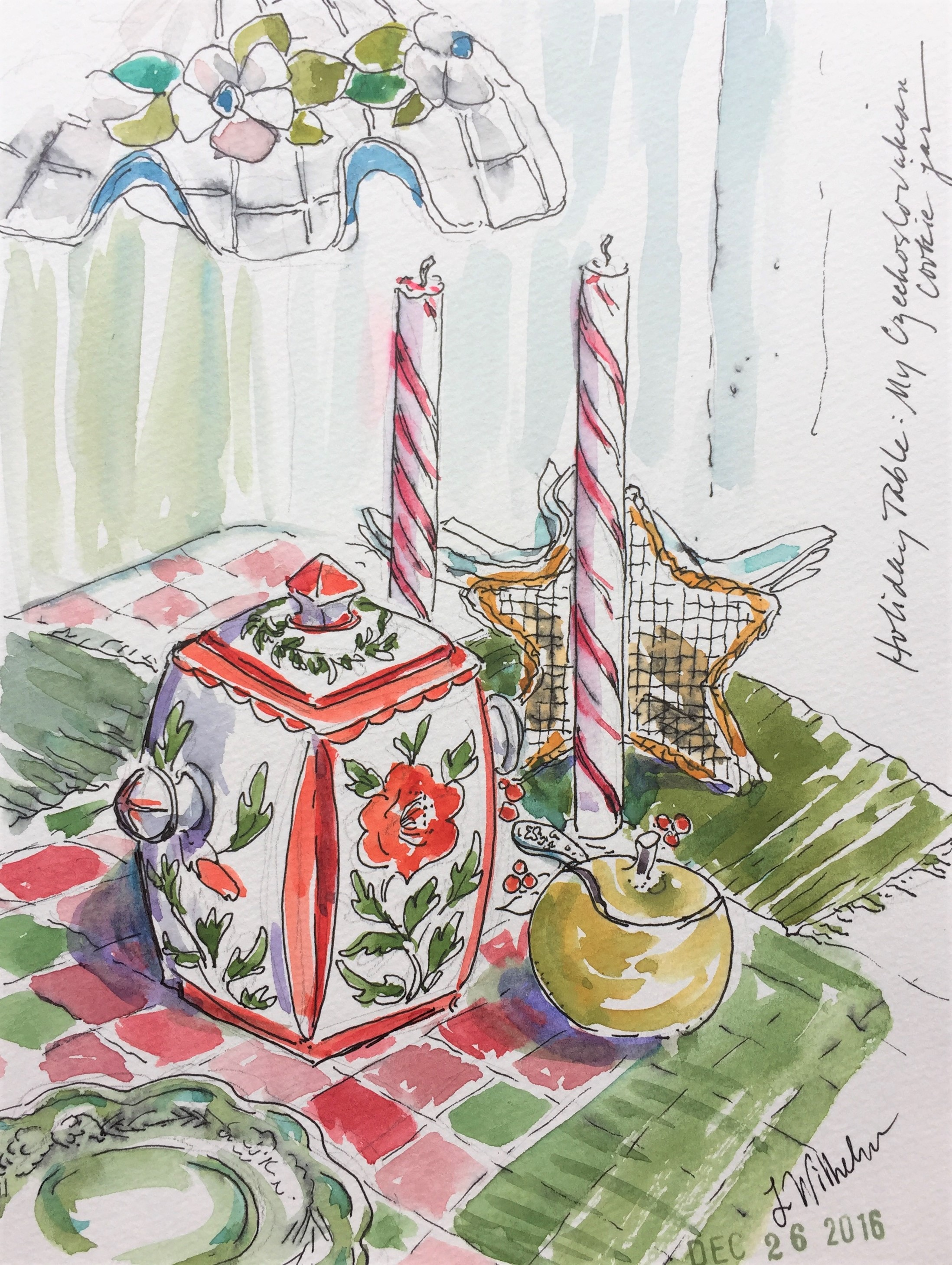 Christmas  Watercolor sketch  Prints available