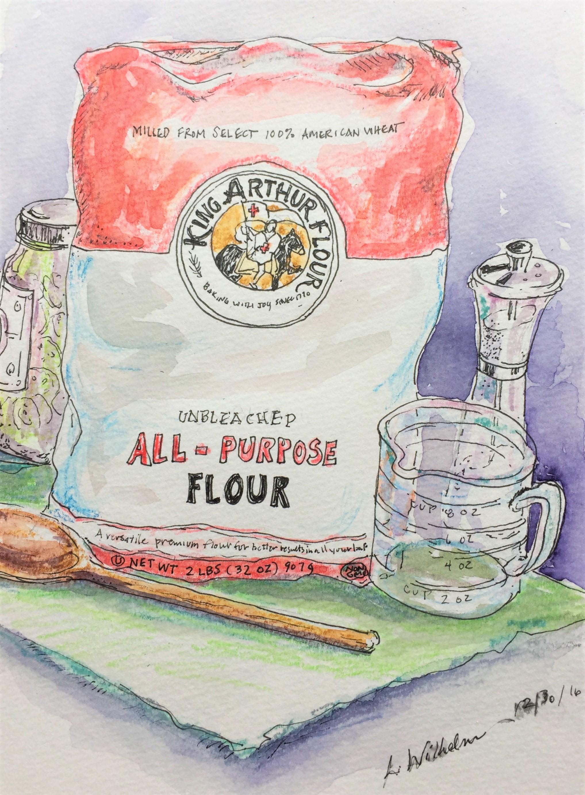 Flour  Watercolor sketch  Prints available