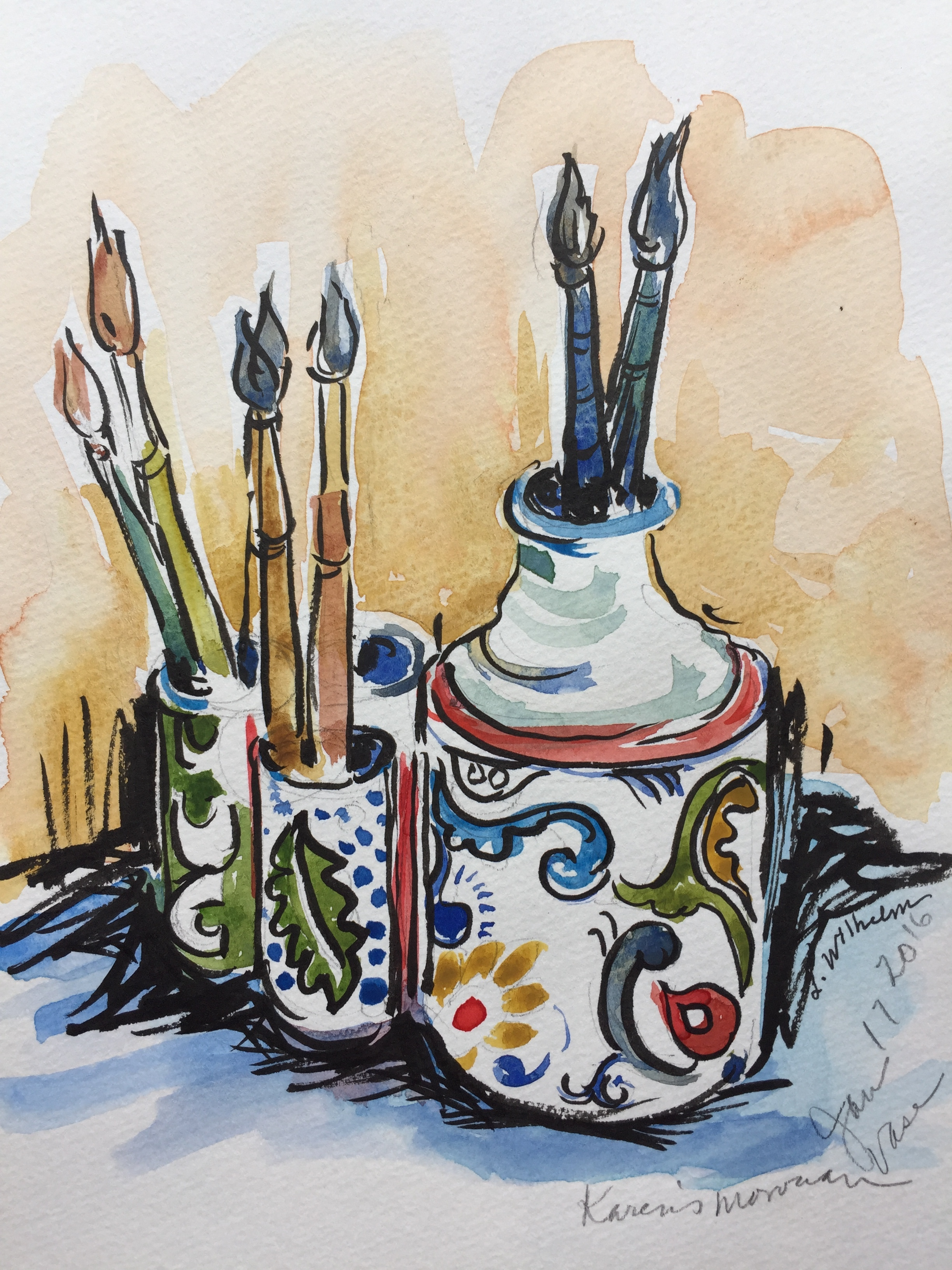 Pottery  Watercolor sketch    Prints available