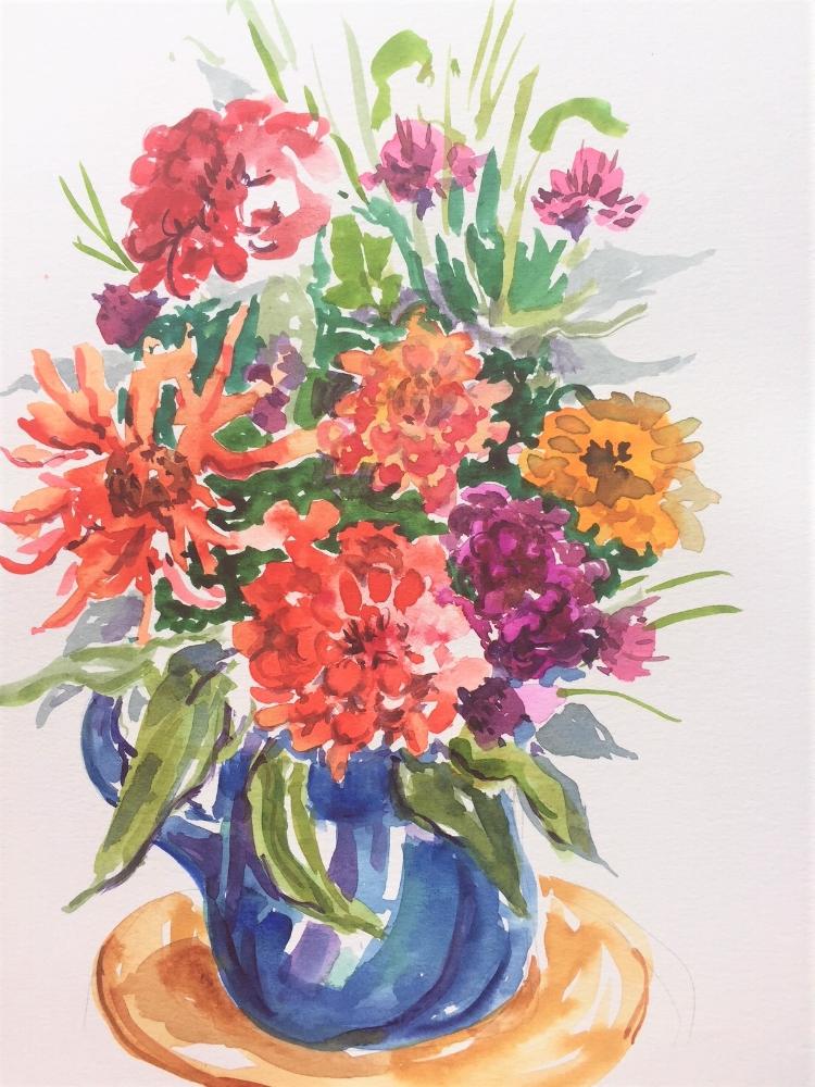 Bouquet  Watercolor  Prints available