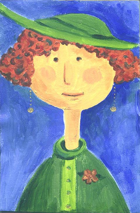 Lady in Green Hat