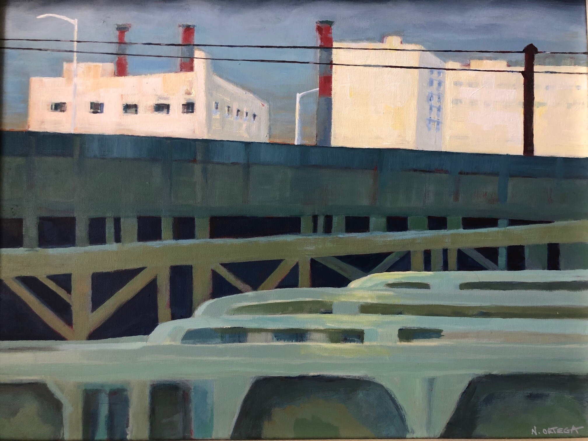 """View From the Train  Acrylic,  18 x 24"""""""