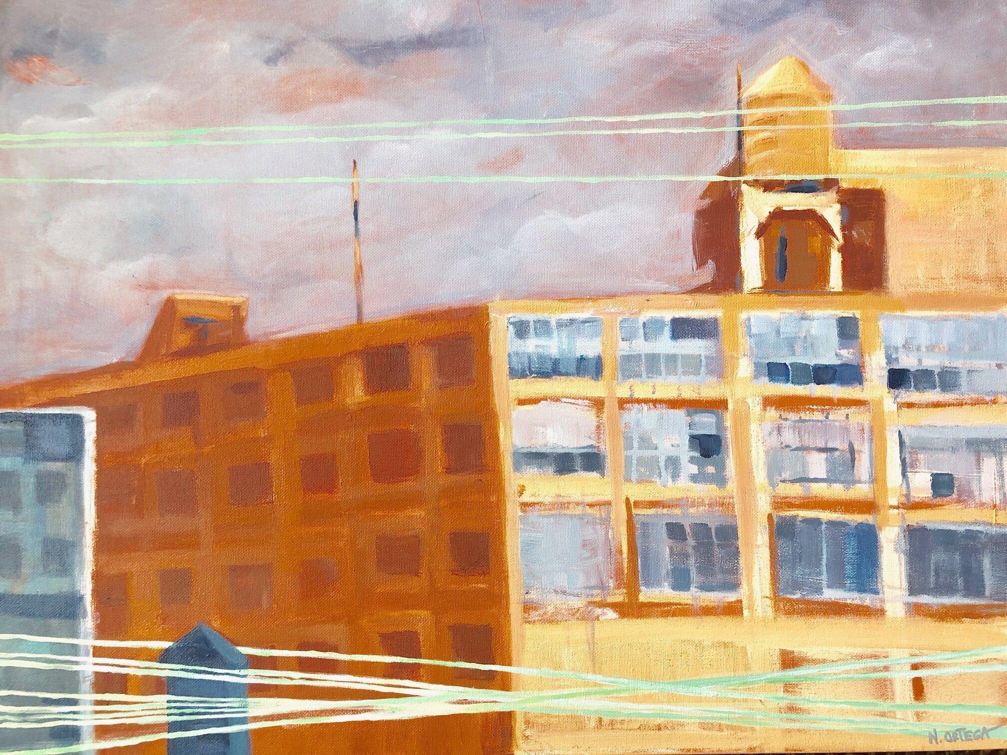 "NJ Warehouses  Acrylic  18 x 24"""