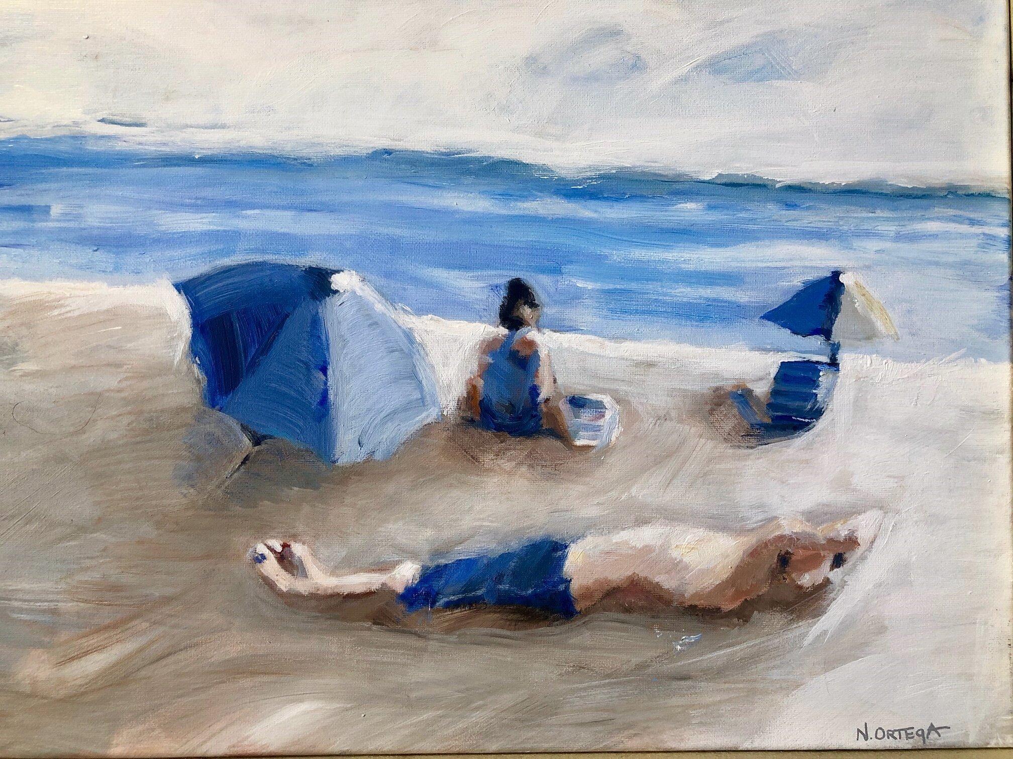 "Private Beach 1  Acrylic,  16 x 20"""