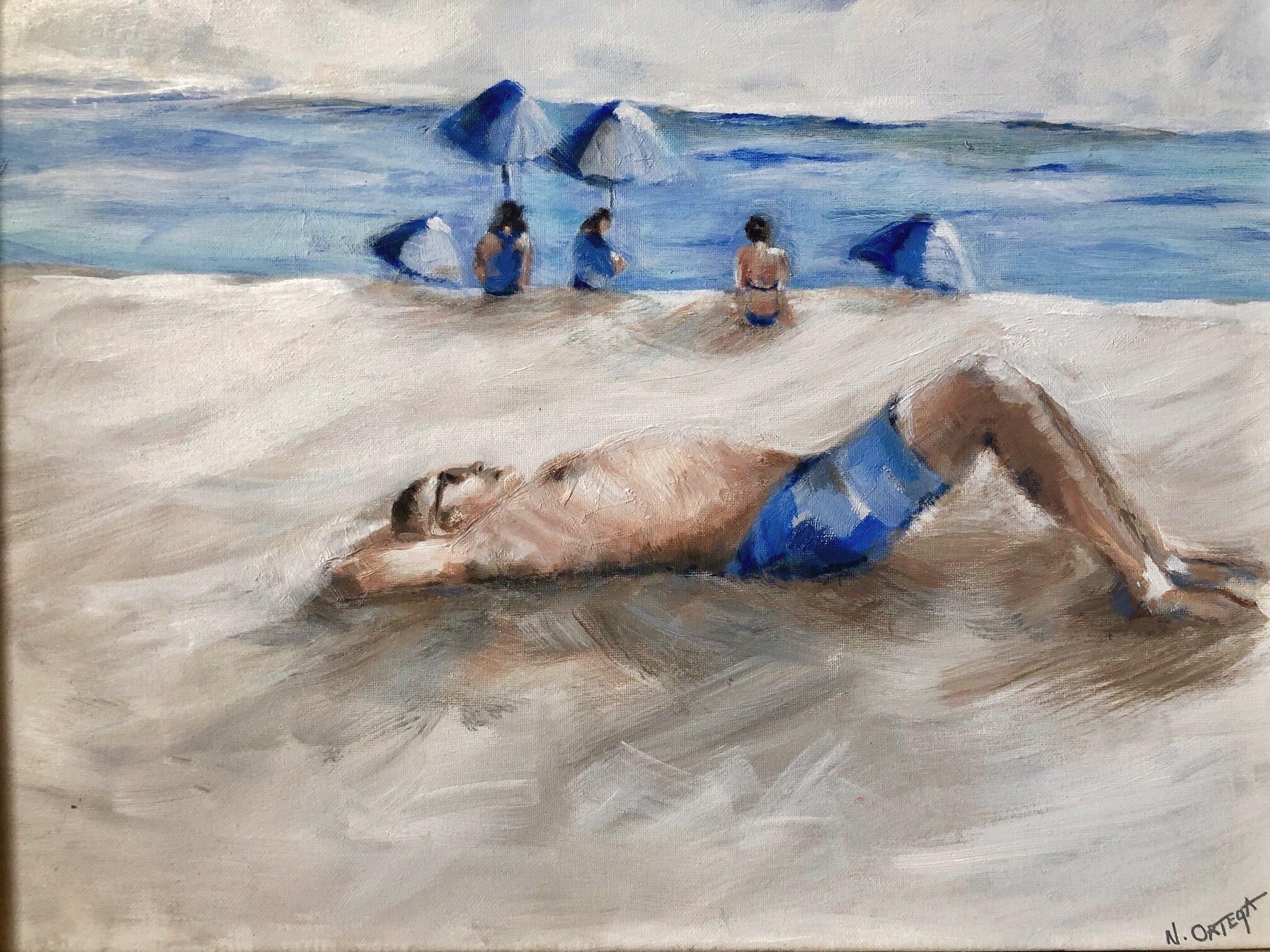 "Private Beach 2  Acrylic,  16 x 20"""