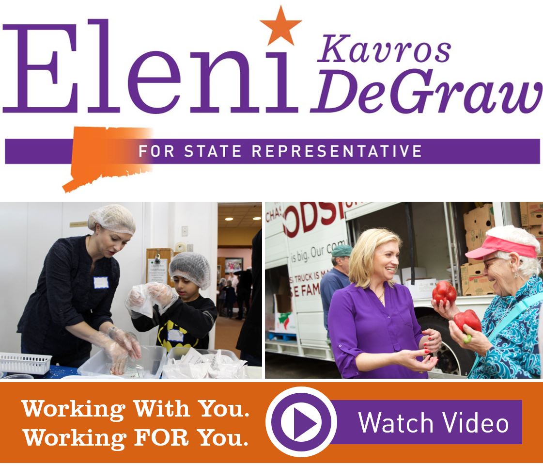 #ElectEleni: Effective. Energized. Empathetic. Empowering. - See how Eleni Kavros DeGraw will work with you and FOR you as your next state representative for Canton/Avon. WATCH VIDEO …