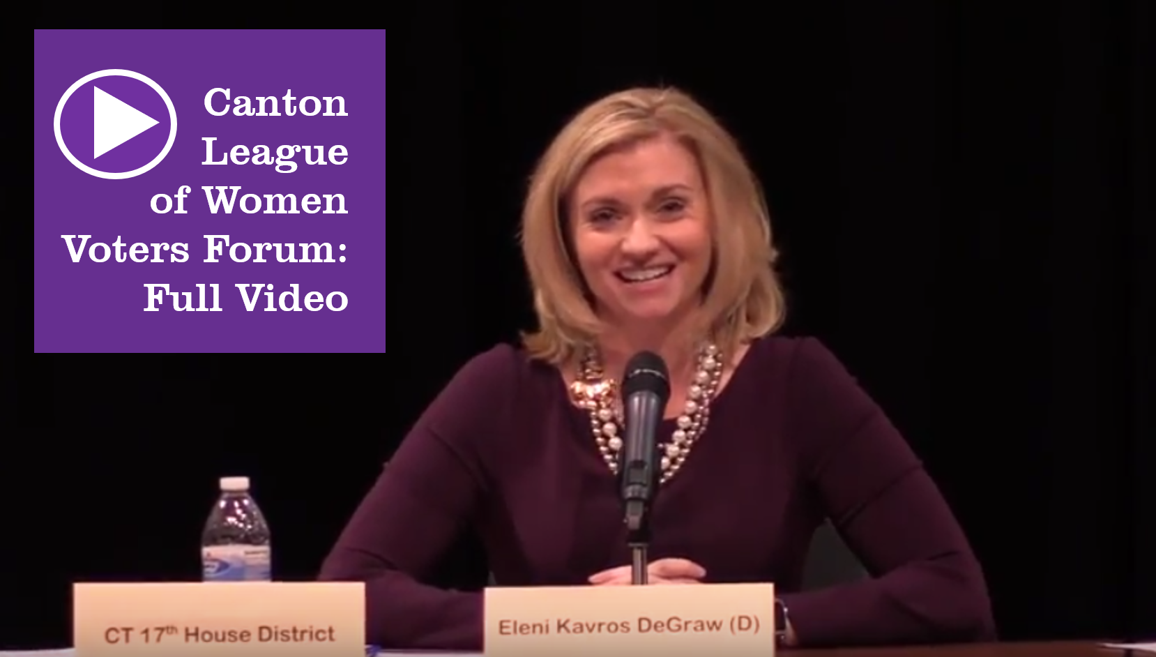 Full Video: League of Women Voters Canton Forum - Watch Eleni Kavros DeGraw and other candidates share their platforms and their qualifications at the October 16 forum. WATCH VIDEO …