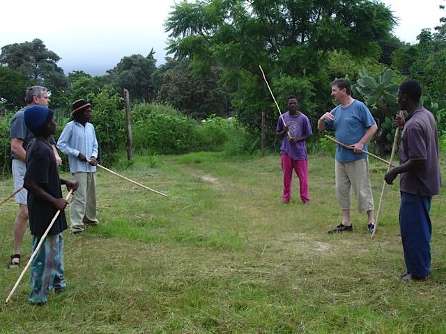 The dojo begins Kufunda 2004.jpg